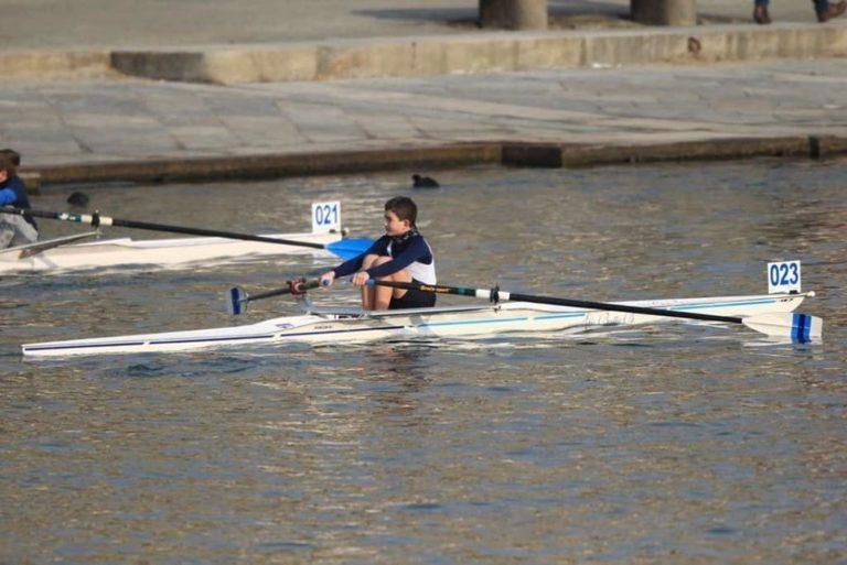 I giovani atleti del Rowing alla Kinder Skiff di Torno. Casaccia impegnato a Sabaudia