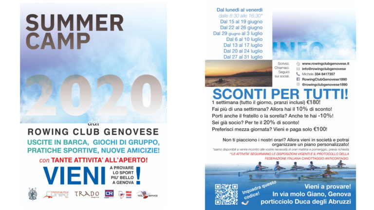 SUMMER CAMP 2020 al Rowing Club Genovese