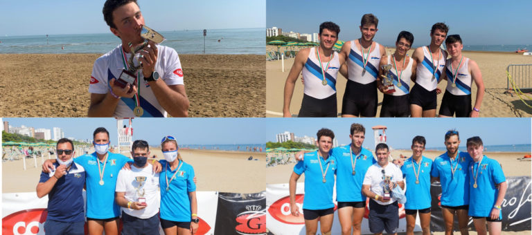 WEEKEND TARGATO COASTAL ROWING: IL ROWING PORTA A CASA 4 TITOLI ITALIANI.