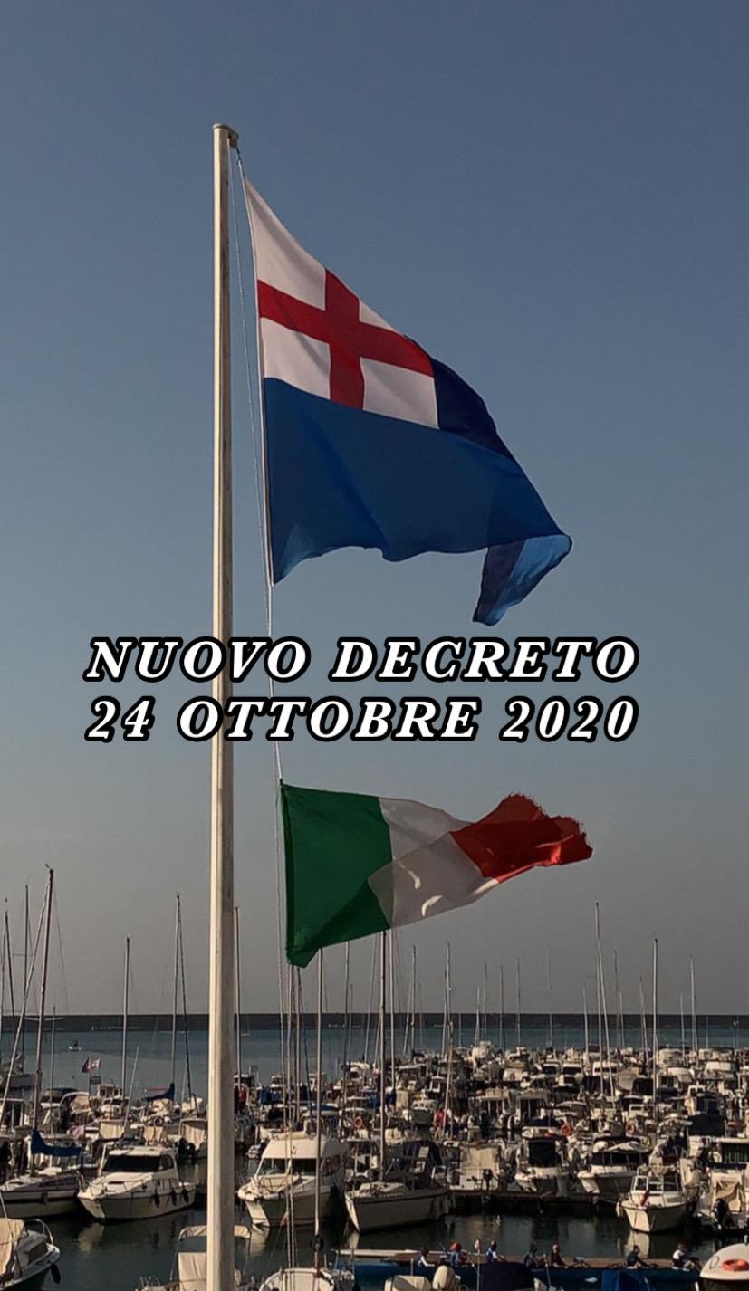NUOVO DPCM DEL 24 OTTOBRE 2020