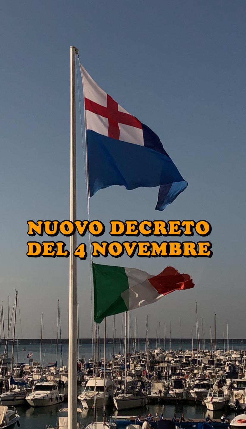 NUOVO DECRETO DEL 4 NOVEMBRE
